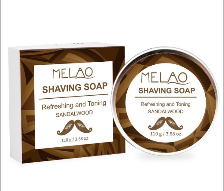 MELAO 110g 샌달 우드 면도 비누 클렌징과 면도 비누 보습