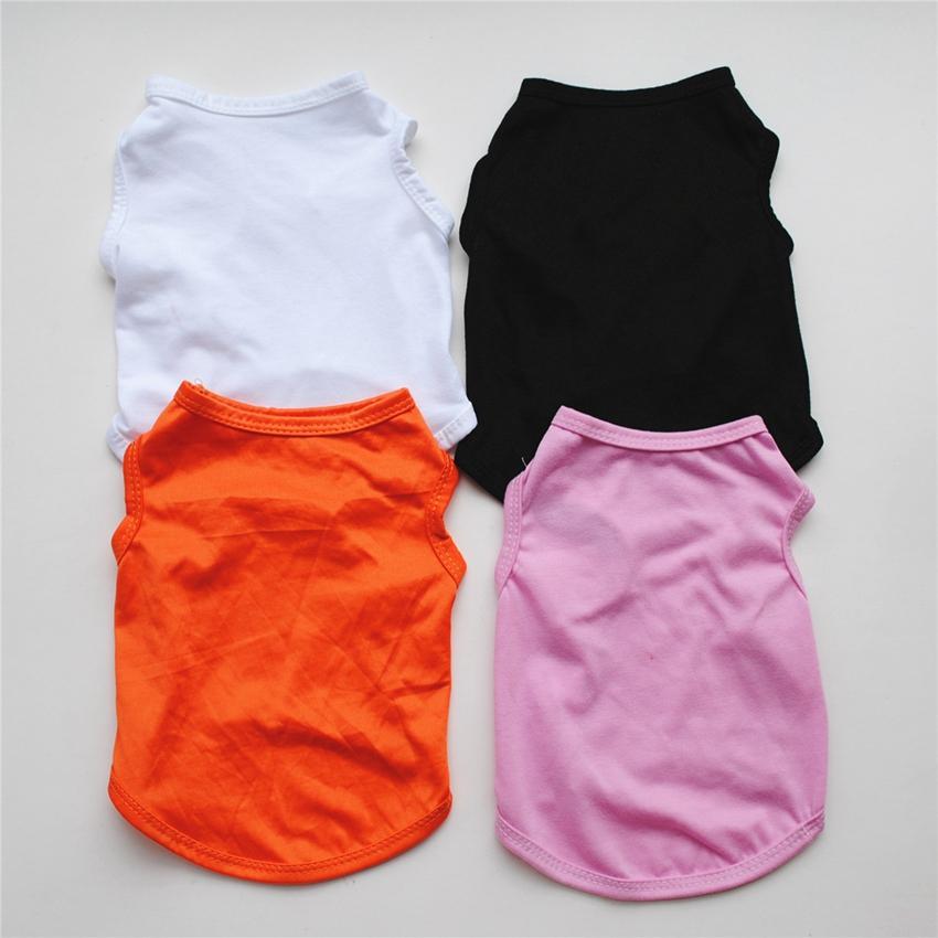 بلون الحيوانات الأليفة الصدرية كلب صغير القطة الأليفة الملابس اللباس سترة قميص تي شيرت ملابس ملابس الصدرية KKA8013