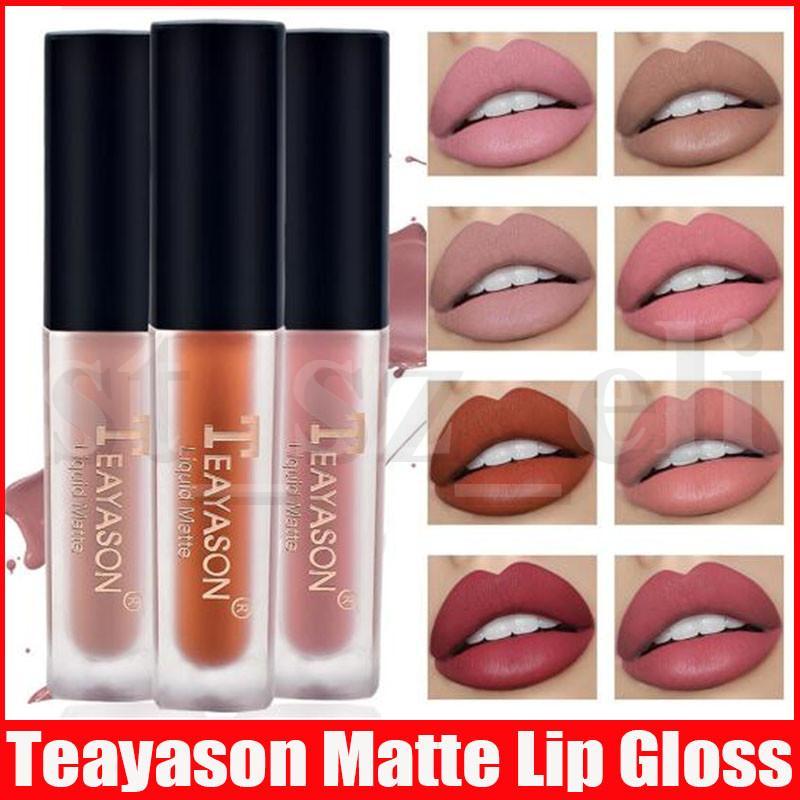 Teayason 12 Colors Liquid Matte Lipstick Waterproof Nude Lipgloss Tattoo Long Lasting Lip Tint Lip Gloss