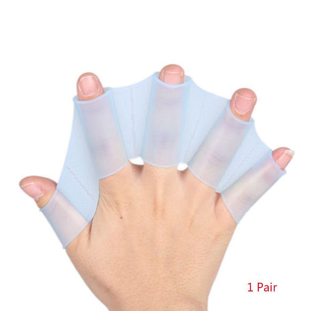Unisexe Grenouille silicone Girdles natation main Palmes Flippers Palm Gants Finger palmés Paddle Sports nautiques