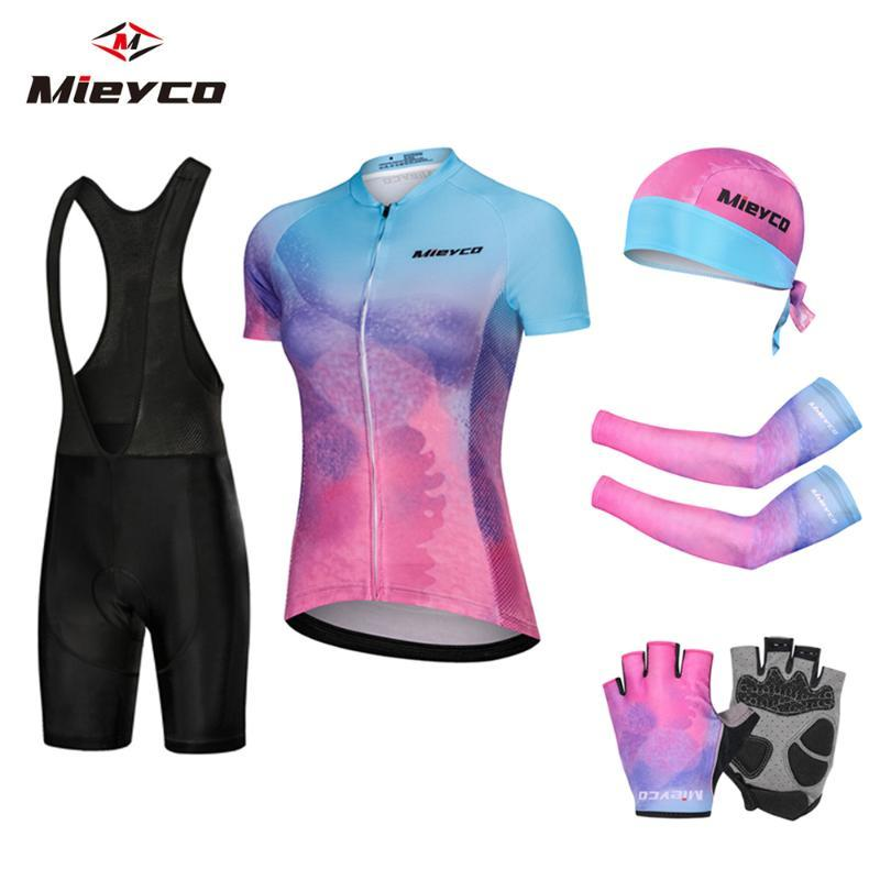 Bayan Bisiklet Takımı MTB Bisiklet Giyim Yarışı Bisiklet Giyim Ropa Ciclismo Bisiklet Giyim Jersey Seti Kadınlar Bisiklet Yaz
