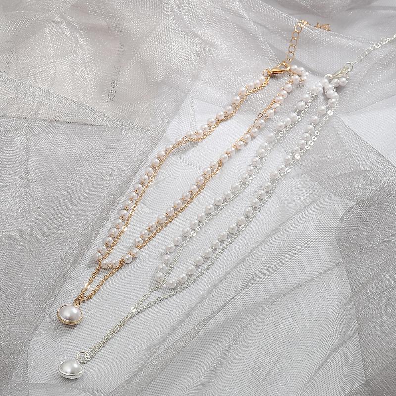 KSRA Korean modische Perlenhalskette für Frauen Weibliche Romantische elegante Claviclekettenhalskette Collier Schmuck 2020 New