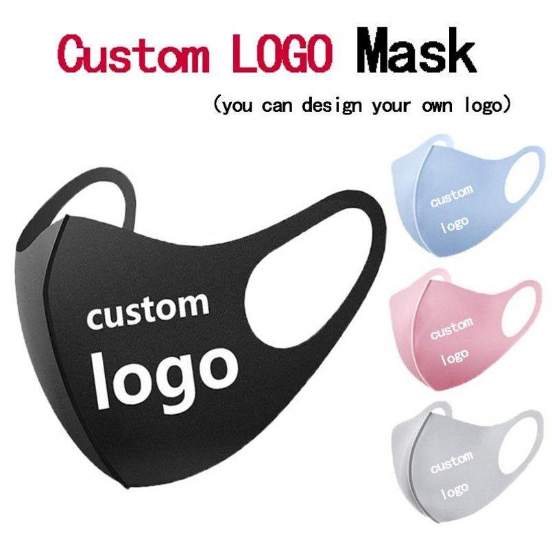 DIY logotipo personalizado adulto máscara facial máscaras Boca protecção nariz reusáveis do algodão prova de moda lavável máscaras anti-pó poeira entrega rápida DHL