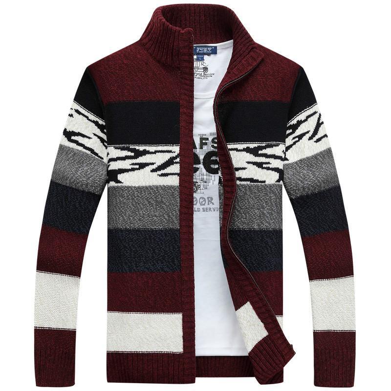 남성용 스웨터 니트 스웨터 남성 카디건 칼라 겨울 양모 패션 남성 코트 브랜드 의류 J970