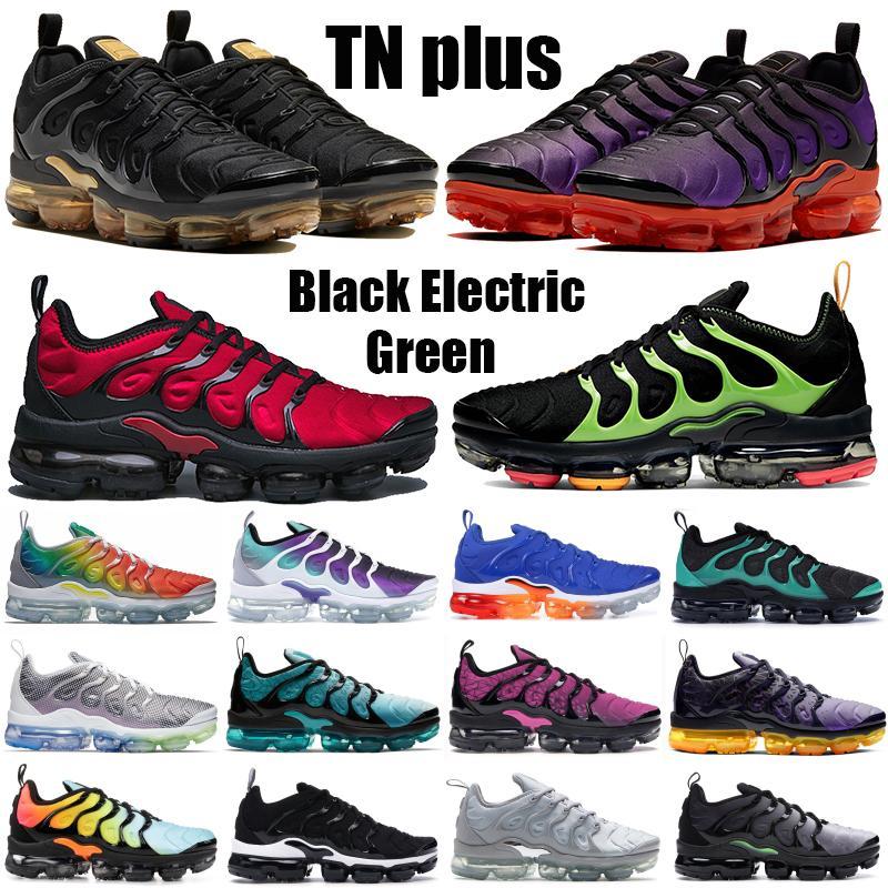 Siyah Elektrikli Yeşil Pembe Deniz Ağartılmış Aqua TN Artı Koşu Ayakkabıları Üçlü Siyah Beyaz Noble Kırmızı Limon Limon Üniversitesi Altın Erkek Kadın Sneakers