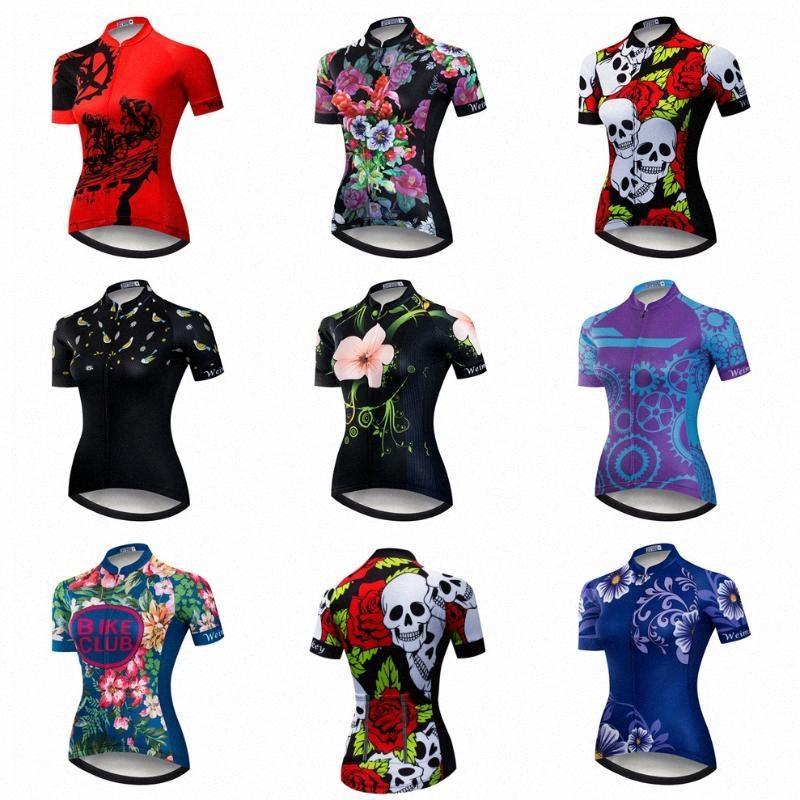 2020 2020 Jersey de ciclo Mujeres camiseta Mtb bicicleta de montaña Red transpirable Ropa Ciclismo desgaste de ciclo ropa deportiva Top Cráneo azul del verano # lBMh