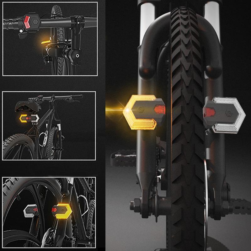 Fahrradbeleuchtung 1Set Blinker Front Fahrrad Outdoor Intelligentes drahtloses Reitsignal für drahtlose Steuerung für Radfahren Sicherheit Warnlicht