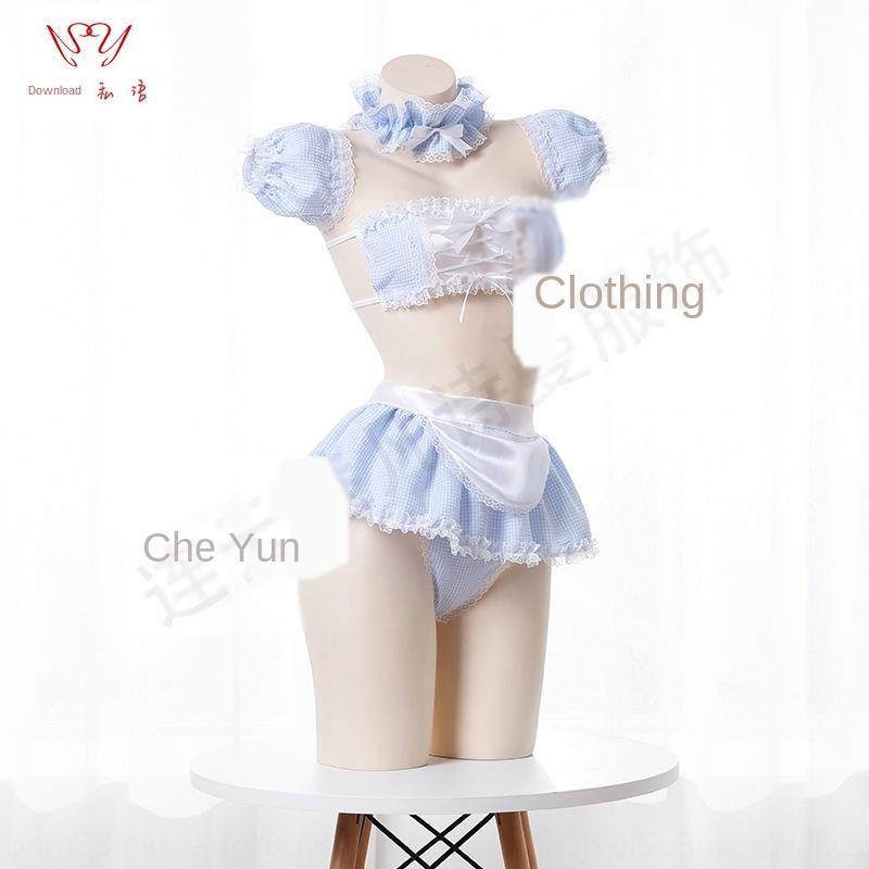 Шепча под луну сексуальной одежды нижнего белья женщина мило горничной одежда сексуальных горничной любви комплект белья