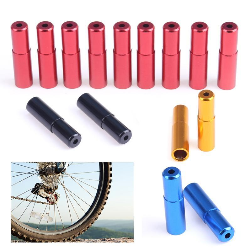 10PCS Aluminium Alloy MTB Mountain Road Bike Bicycle Brake Cable Hose Housing End Cap 5mm Diameter Cycling Parts 4 Colors