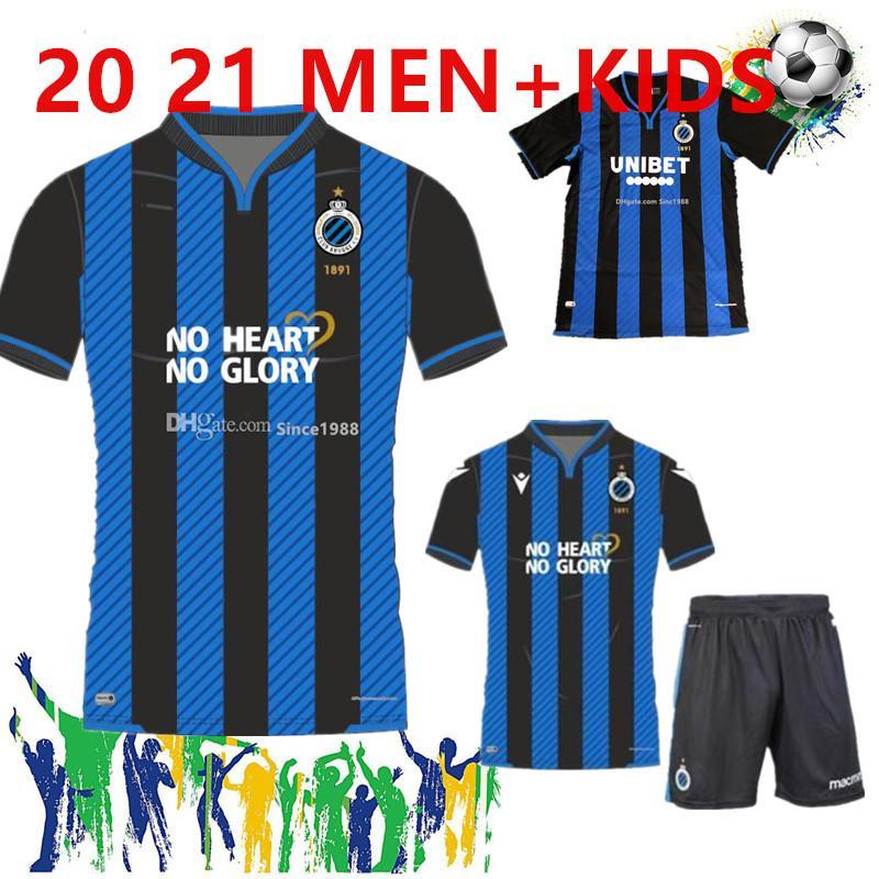 Men + Kids Kit 20/21 Club Brugge KV Fußball-Uniform-Kleidung 2020 2021Belgium Brügge Kind Jugend-Fußball-Jersey Vormer Vanaken DIATTA