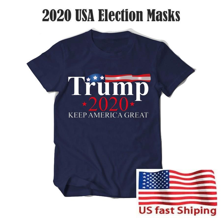 Men Women US Election T Shirt Top Tees Donald Trump 2020 Keep America Great Letters Printed Short Sleeve T-shirt Unisex Casual Shirt FY6075