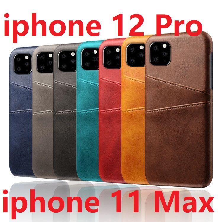 سليم تغطية لتفاح iPhone 12 برو ماكس / اي فون 12 البسيطة برو 11 ماكس فون XS ماكس XR 6 7 8 زائد بالإضافة إلى بطاقة حامل حقيبة جلدية المحفظة القضية مرة أخرى