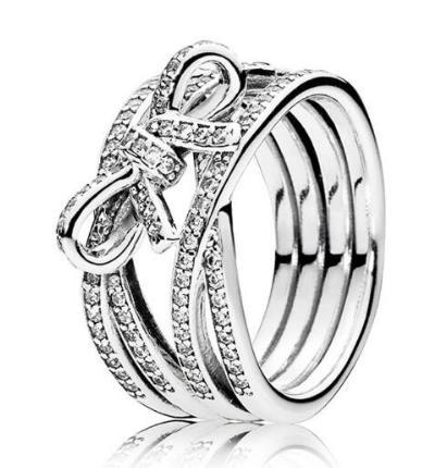 Freies Verschiffen-reale 925 Sterlingsilber-Ring Zarte Gefühl Bogen-Ring des Pan-Ringe für Frauen-Geschenk Bankett Schmuck