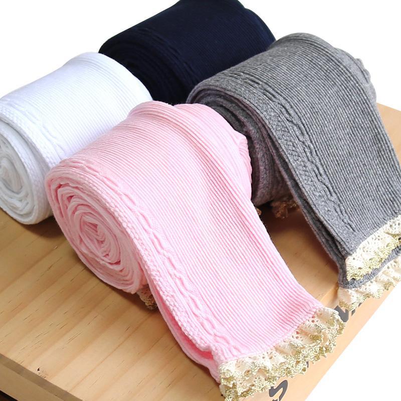 Pantalones de ropa de niños niñas pequeñas polainas Fille invierno caliente pantalones para chicas Leggin de encaje de algodón del resorte del otoño de Niños 3-12Y