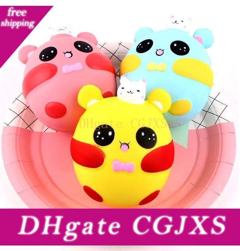 Bunny Rabbit Squishies Kawaii Slow Rising Charm Doll Squishi Jumbo Squeeze Kids Toy Phone Straps Anti -Stress Toys 12cm 3 Designs Yw1136