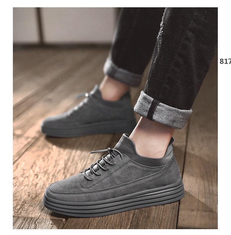 grife de luxo 817 Top qualidade do couro homens casuais sapatos designers de luxo de alta qualidade moer lazer arenosos e de negócios de duplo propósito s
