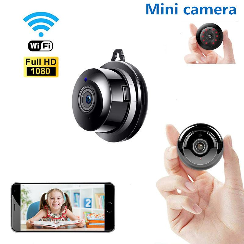Small P2P Full HD 1080P Mini Wireless WIFI IP Camera Night Vision Mini Camcorder Kit for Home Security CCTV Micro camera Wirless V380