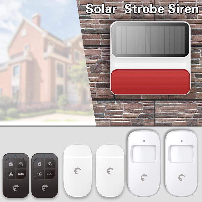 Alarm Sistemleri Etiger S8A Açık Güneş Kablosuz Siren Ev Güvenlik Koruma Localtion Sistemi