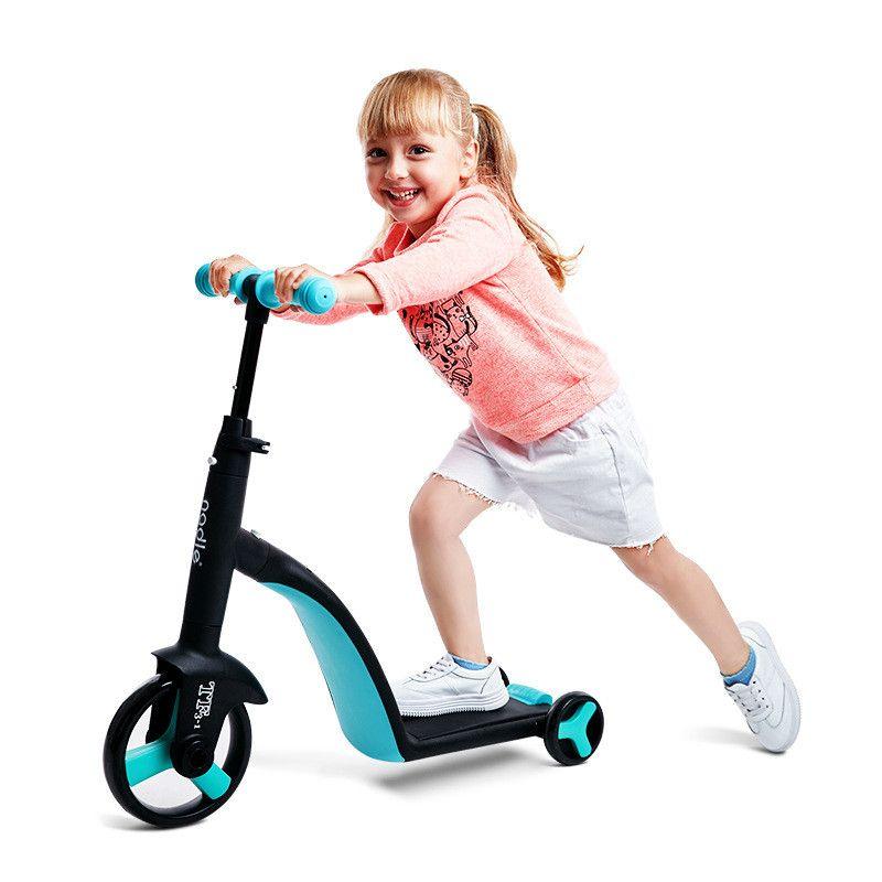 Conjuntos de presente 3 em 1 crianças tricicleta triciclo bebê balanço passeio de bicicleta em brinquedos crianças para aprender andar criança