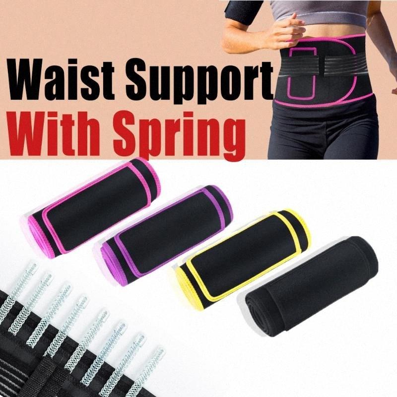 Cinturón sudar ayuda de la cintura con el bolsillo de deslizamiento para hombres de las mujeres de yoga neopreno Correa lumbar de la cintura de fitness entrenador alta cantidad nkuK #