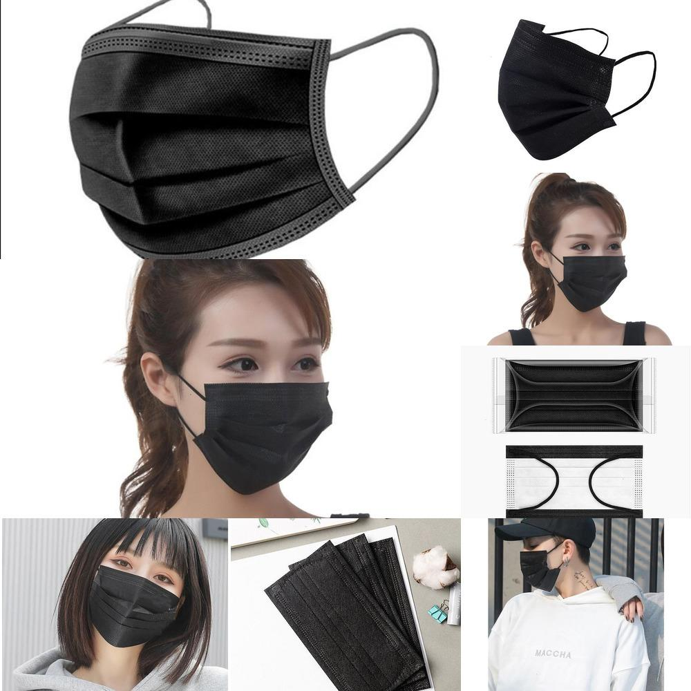Livraison gratuite protection du visage 3 Layhood capot Shippingfree Er non tissé masque anti-poussière Saliva RUH5