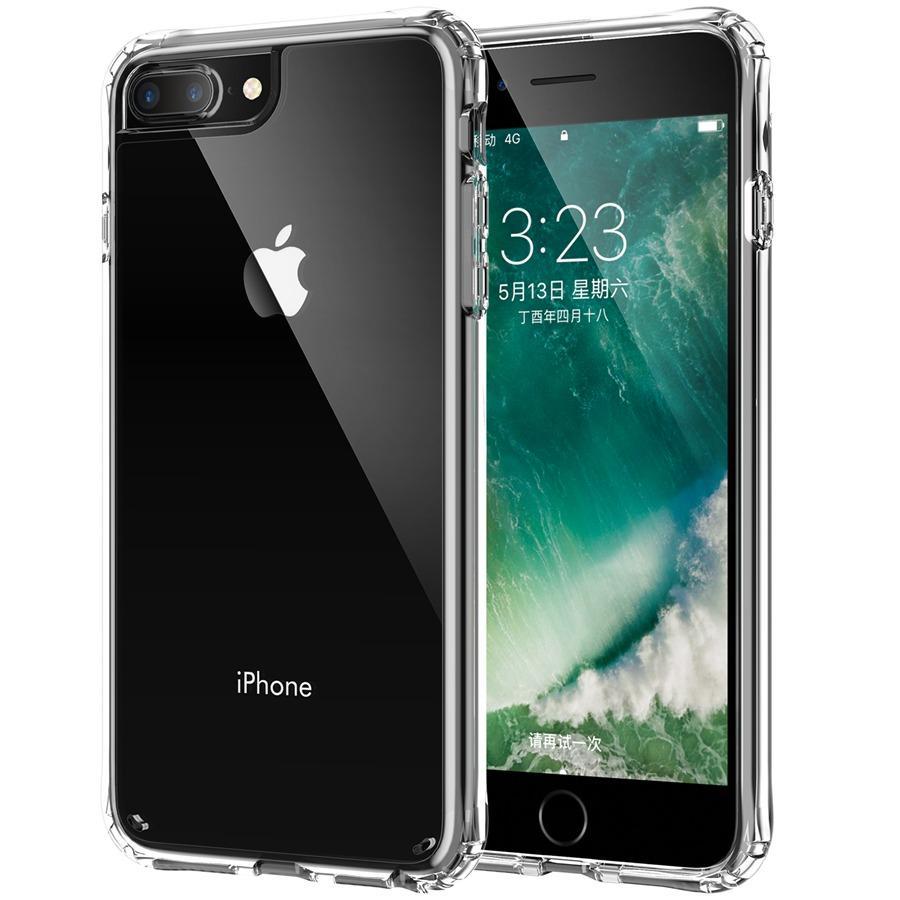 Armadura de aire caja transparente con amortiguador de marco Grado de la protección militar de PC + TPU para el iPhone 6 Plus 6S iPhone 7 8 Plus iPhone SE 2020