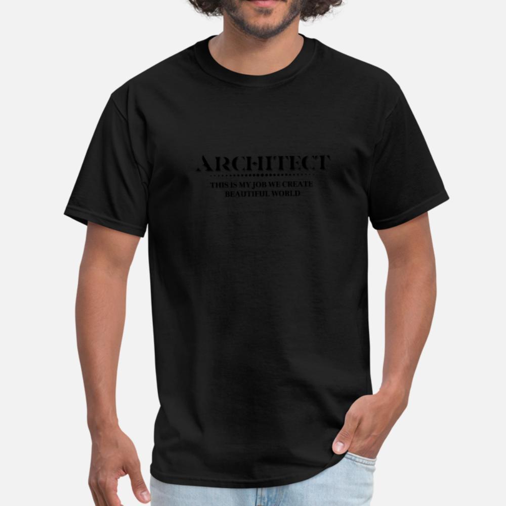 Lustiger Architekt Definition T-Shirt Männer verrückt 100% Baumwolle S-3xl Letters Verrückte Mode Frühling Normale