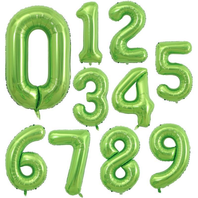 1PCS 40inch عدد البالونات الأفوكادو الخضراء اللون احباط بالونات الهليوم دش Globos الطفل حفلة عيد الميلاد غلوبالس الديكور الصيف ديسمبر