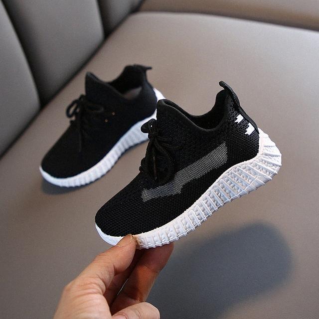 2020 zapatos de los niños del otoño muchachas de los muchachos zapatos de deporte Moda transpirable bebé inferiores suaves antideslizantes en las zapatillas de deporte casual de los niños I5N3 #