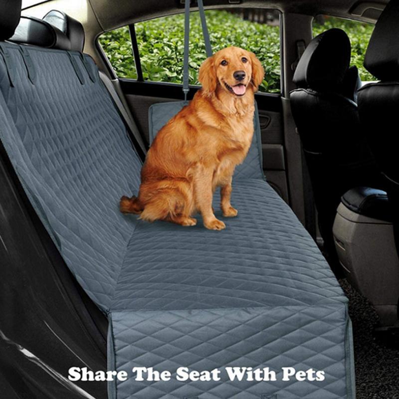 Hund Autositz-Abdeckung für Auto-hinteren Rücksitz Waterproof Hund Travel Mat Hammock-Kissen-Schutz mit Reißverschluss und Taschen