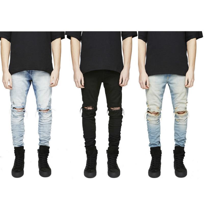 Casual Hommes Jeans Pantalons Pantalons Mode Streetwear 20 ans New stylisés Jeans 3 couleurs Vêtements Homme Taille 28-36 2020 Pour en gros