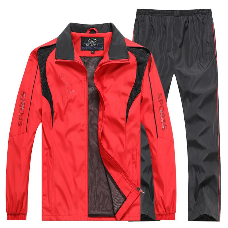 Sportswear Primavera Outono Sweatsuit dois PCs da M-5XL Homens Trasuits Ginásios Set Men + calça Sets Casual Suit Tra Homens Novos 2020