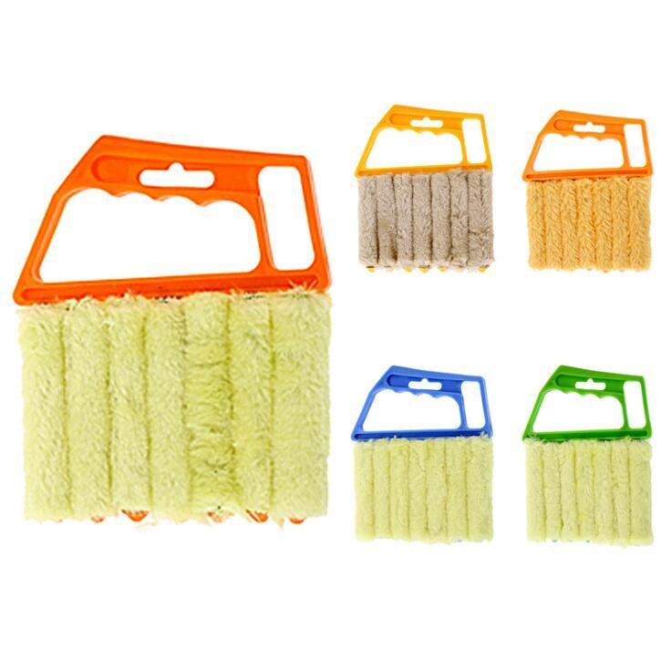 창 청소 브러쉬 유용한 마이크로 화이버 에어컨 먼지 떨이 클리너 세척 블라인드 브러쉬 청소기 가정용 청소 도구 OWD811