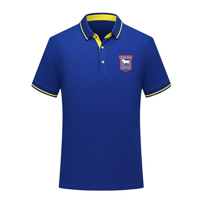 2020 Ipswich uomini di calcio Polo calcio a maniche corte polo di formazione Moda Sport di polo di calcio di calcio T-Shir