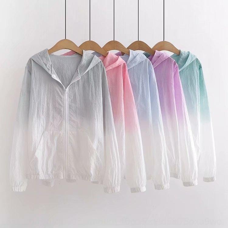 hLILd ZHAO-309-23 style coréen vêtements pour femmes 2020 d'été de protection solaire printemps manteau et gradient lâche manteau à capuchon nouveau pour les femmes
