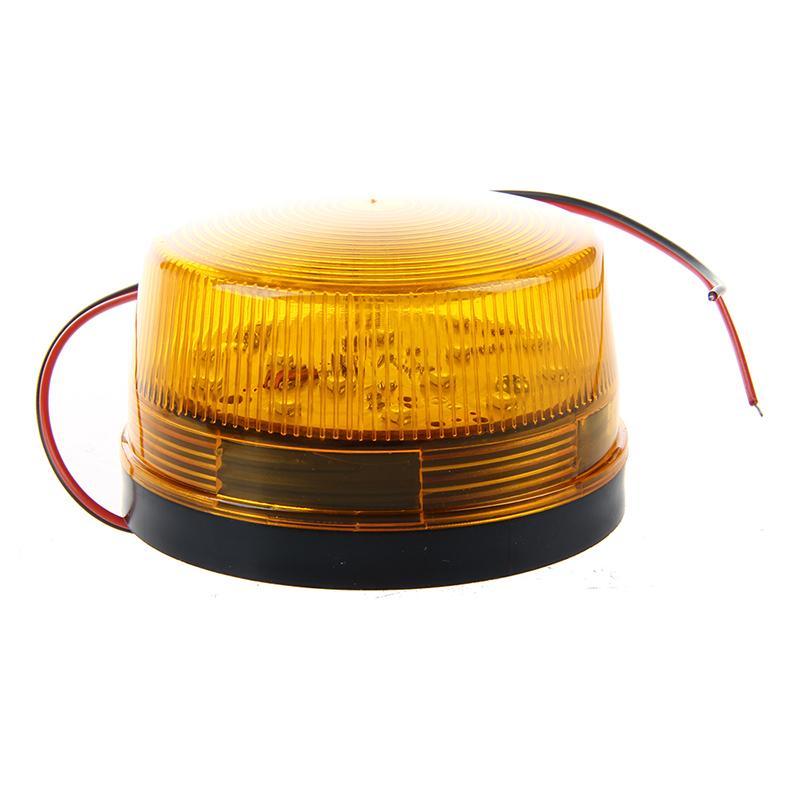 Alarme 12V Aviso de Segurança Strobe Safety Signal azul / vermelho piscando LED Light Orange