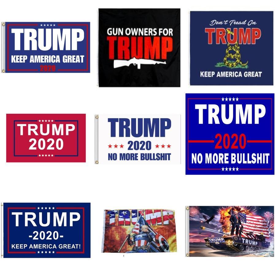 90 * 150 cm Trump 2020 Bandera impresa a doble cara de Donald Trump Bandera Keep America Gran Donald para el presidente EE.UU. C833 # 694
