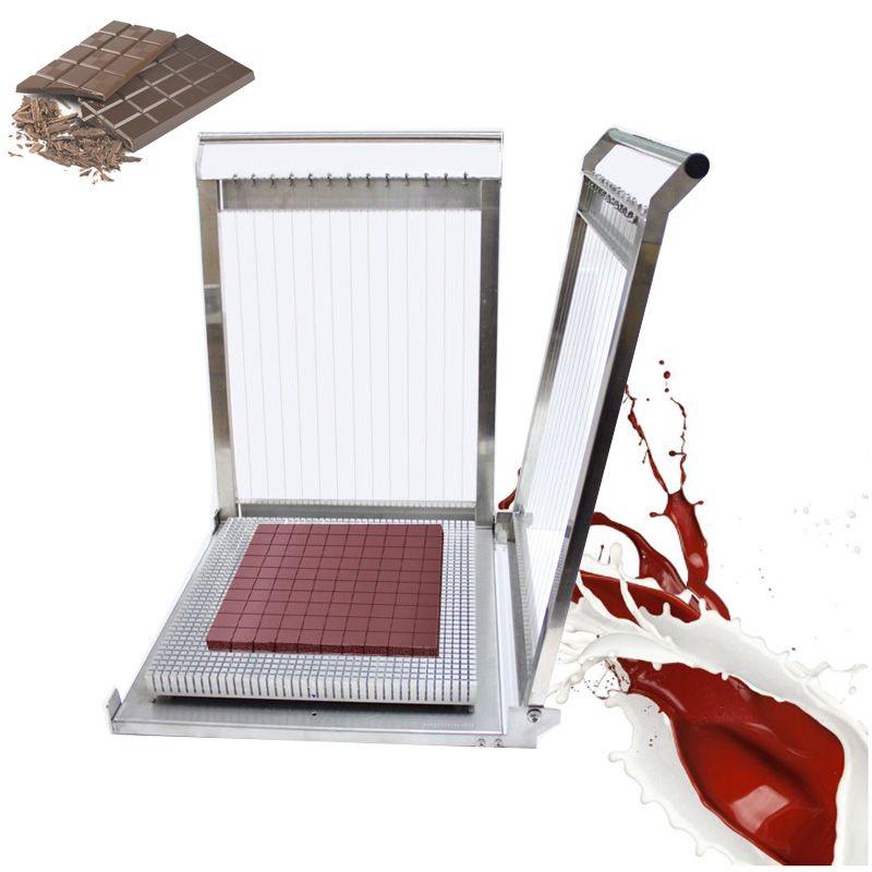 Custom Made 304 Edelstahl 300 * 400mm Doppelarm Schokoladenschneider Käse Kuchen Gitarre Dicing Machine Jelly Cutting Machie