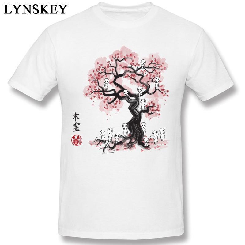 100% cotone delle parti superiori della novità T-shirt T-shirt di Japan Style manica corta girocollo Estate Autunno Abbigliamento Cherry Blossoms Spirits