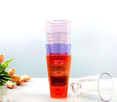 Addensare acrilico Tumbler Classic trasparente di viaggio tazza di caffè tazza di birra in vetro per succhi di vino freddo beve festa a casa
