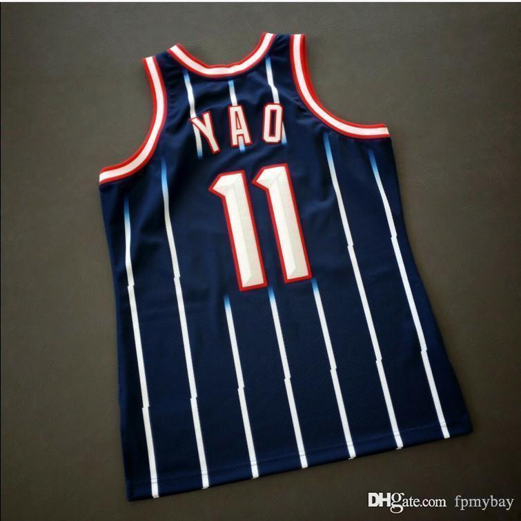 Özel Erkek Gençlik Kadınlar Vintage Yao Ming Mitchell Ness 02 03 Koleji Basketbol Forması Boyutu S-4XL veya Özel Herhangi Bir Ad veya Numarası Forması