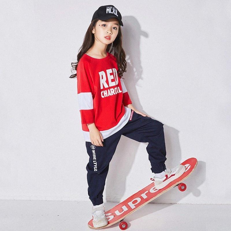 Hip Hop Dance Costumes Kids Pole Dance Clothing Children Autumn Performance Clothing Girls Street Stage Wear DQS1224 p6s6#