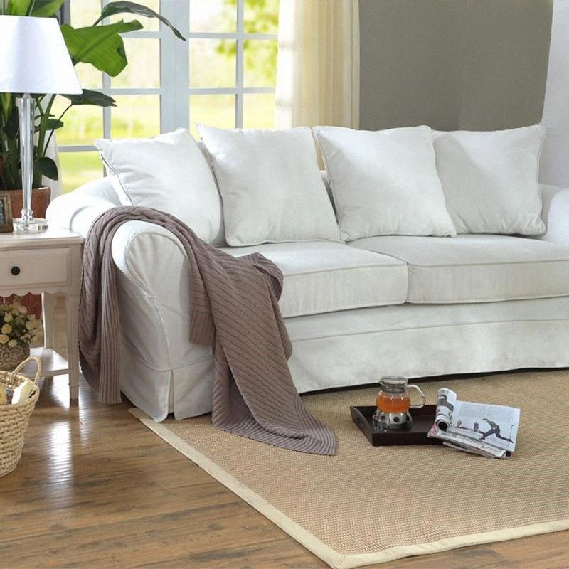 Anpassbare japanischen Tatami Stil brasilianischen Natursisal Weaving Wohnzimmer Sofa Couchtisch Teppich Sisal Bodenmatte Günstige Teppich T iC8Q #
