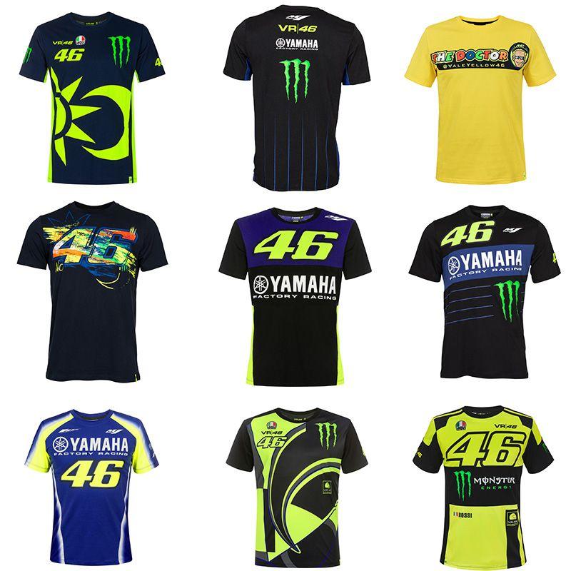 Nuova Moto GP per Rossi VR46 46 Motocross Racing Team T-shirt moto T-shirt mountain bike MTB MX DH yamaha Jersey