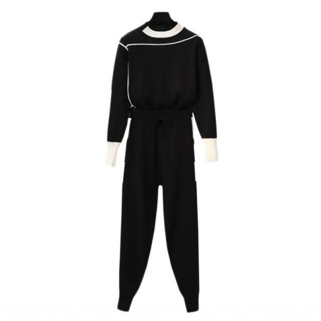 IZQ5H [Nouveau recommandé 2020 printemps nouvelle graisse MM grande soeur de graisse vêtements pour femmes de taille ventre couvrant costume de ressort recommandé Suit ensemble tricoté