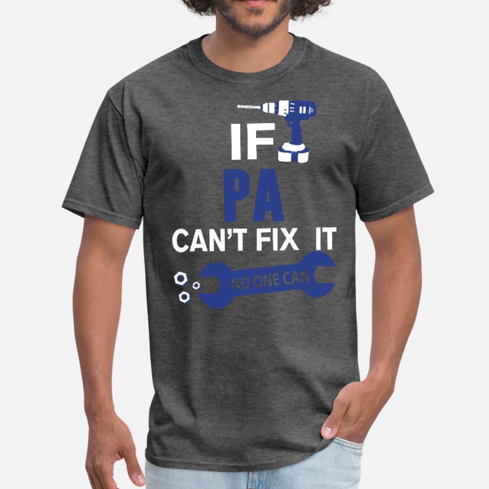 Se Pa Can t corrigi-lo Ninguém pode camisa t homens Designs manga curta rodada camisa pescoço da novidade gráfico engraçado do vintage Casual verão