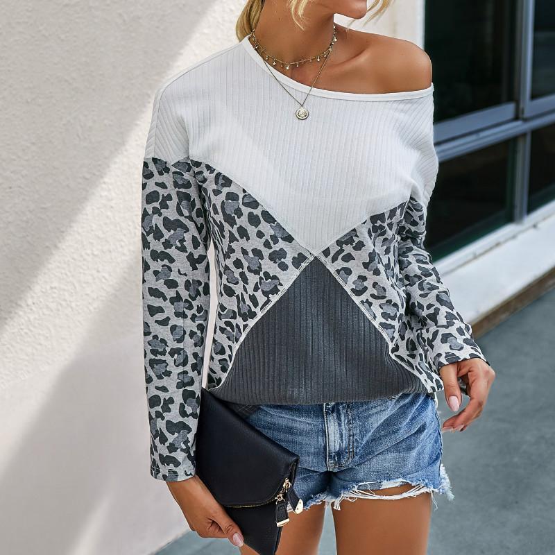 Autunno Inverno Maglione donne di grande misura di pull femme leopardo O del collo a maniche lunghe maglione Harajuku allentati casuali Vintage Pullover
