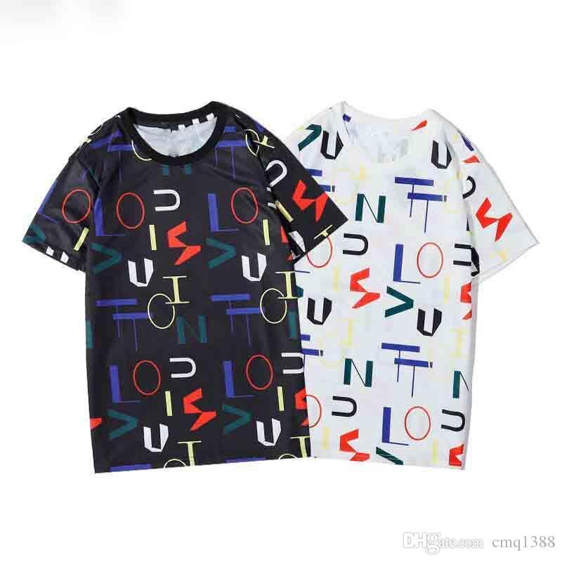 2020 nuovo Mens magliette Coppia collo uomo a manica corta Lovers' Fantastico Donna Uomo Moda T-Shirt Top Abbigliamento SUPERA IL T-shirt