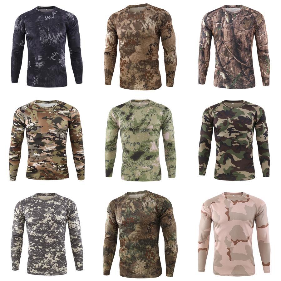 Couleur des hommes Designer Bouton T-shirts manches longues Mode printemps T-shirts pour hommes Casual Tops Simple # Solide 939