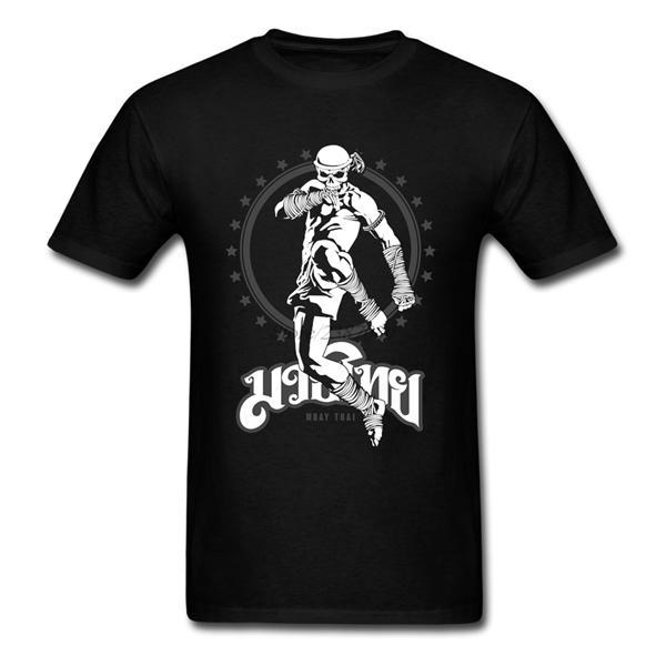 Erkekler Popüler Aşıklar 3XL Erkek T Shirt 0924 için Muay Thai Kafatası Fighter Tişörtlü Pamuk Özel Kısa Kollu Tayland Martial T-shirt